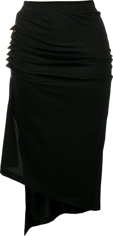 Paco Rabanne Asymmetric side button pencil skirt