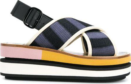 Marni Sling back wedge sandals