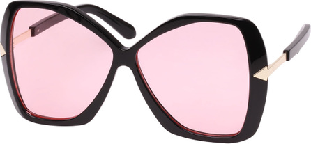 Karen Walker Mary Acetate Butterfly Sunglasses, Black Pattern