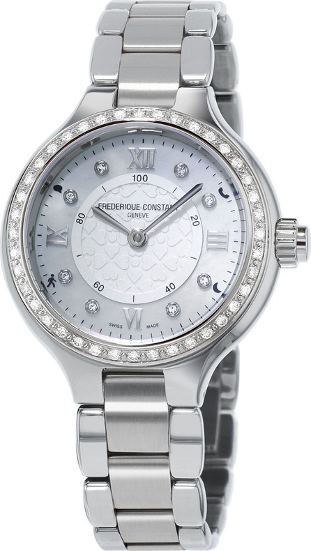 Frederique Constant Stainless Steel Horological Smart Watch with Diamonds