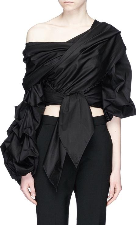 Johanna Ortiz 'Leticia' off-shoulder tie front cotton top