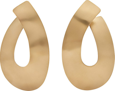 Fay Andrada Taka curved brass earrings