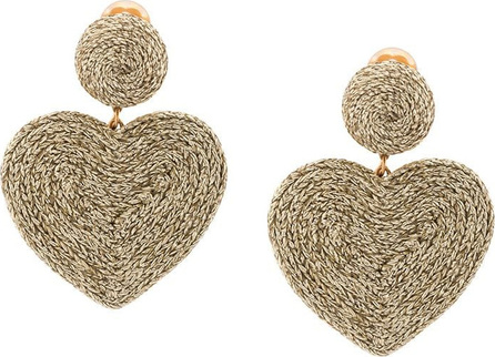 Rebecca de Ravenel Cora heart costume clip-on earrings