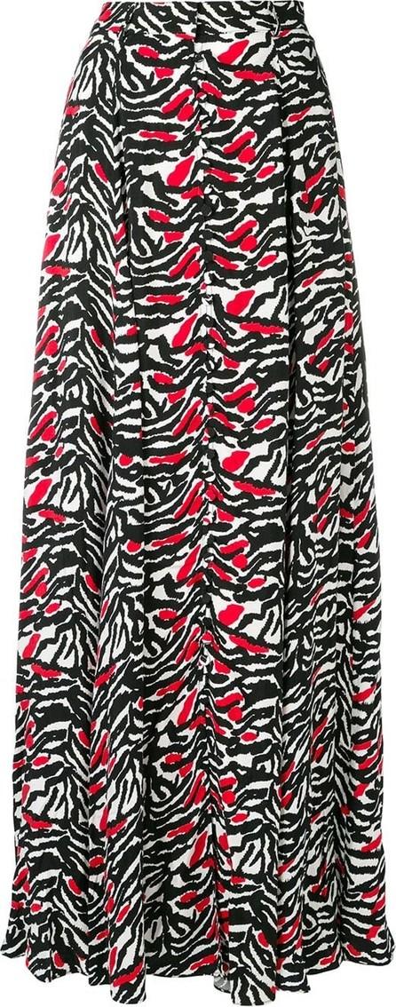 Adam Selman A-line tiger print maxi skirt