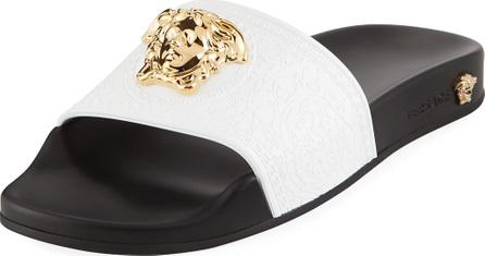 Versace Versace Leather Pool Sandal