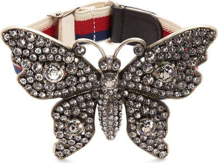Gucci Crystal-embellished butterfly bracelet