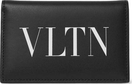 Valentino Valentino Garavani Logo-Print Leather Bifold Cardholder