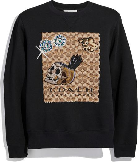 COACH Disney Dark Fairy Tale Men's Appliqué Sweatshirt