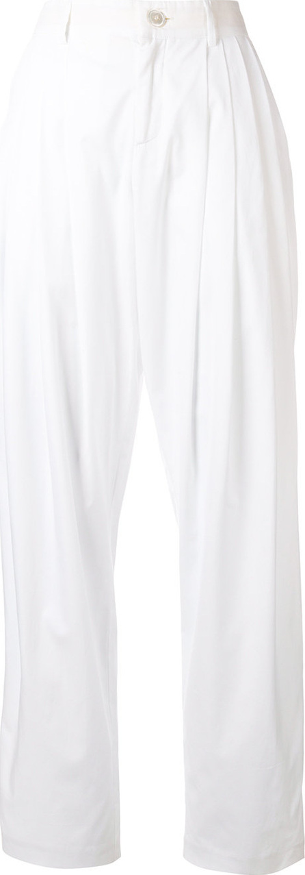 Erika Cavallini Pleated straight-leg trousers