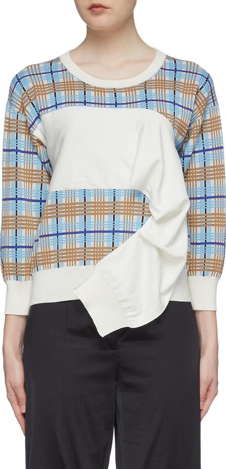 Aalto Sleeve panel tartan plaid knit top