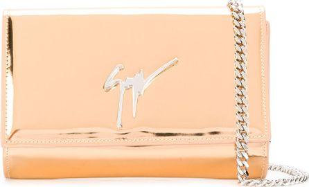 Giuseppe Zanotti Mirrored chain wallet