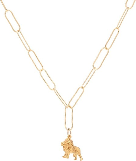 Alighieri The Lion in the Night 24kt gold-plated necklace