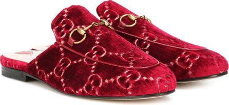 Gucci Princetown GG velvet slippers