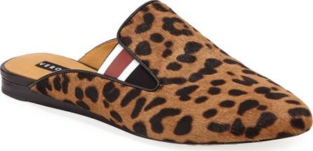Veronica Beard Greyson Leopard-Print Calf Hair Mules