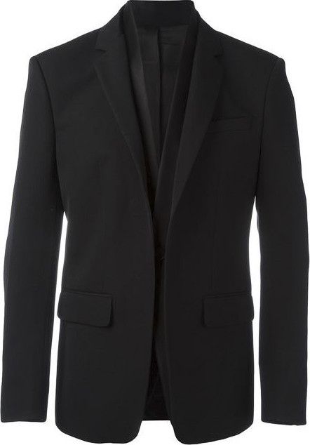 Givenchy layered lapel blazer