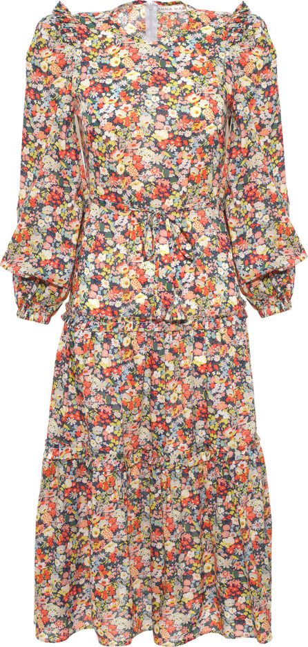 Anna Mason Christy Floral Printed Midi Dress