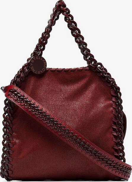 Stella McCartney Red falabella mini chunky chain tote bag