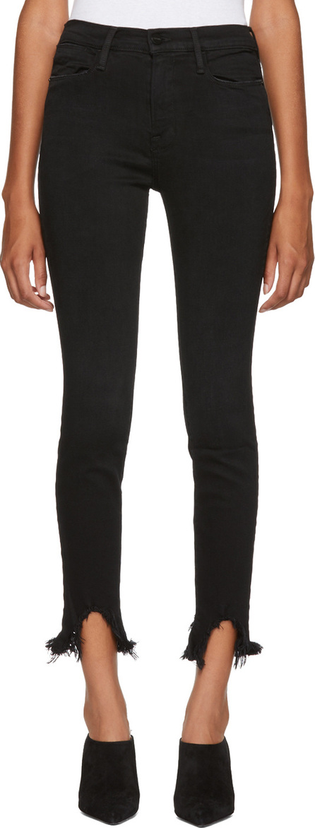 FRAME DENIM Black Le High Jeans