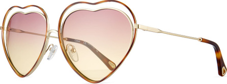 Chloe Poppy Love Heart-Shaped Sunglasses