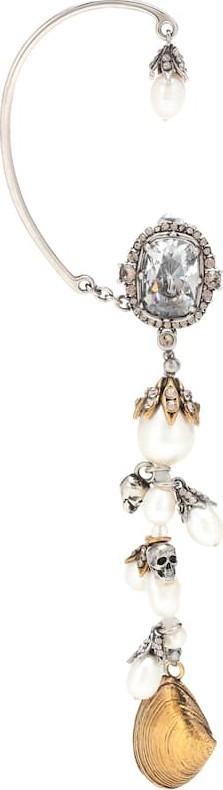 Alexander McQueen Beaded shell single earring