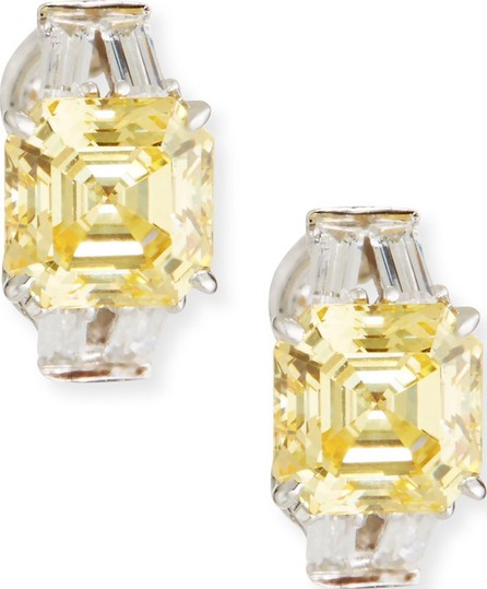 Fantasia by DeSerio Yellow & Clear Cubic Zirconia Earrings