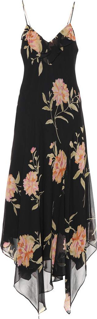 Polo Ralph Lauren. Floral-printed silk dress