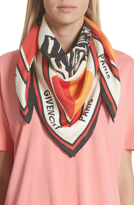 Givenchy Catwings Silk Twill Scarf