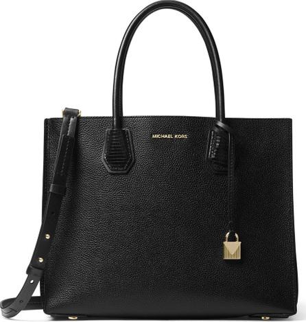 MICHAEL MICHAEL KORS Mercer Large Convertible Tote Bag, Black