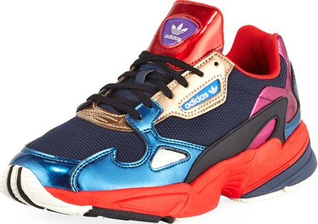 Adidas Falcon Women's Colorblock Metallic Sneakers