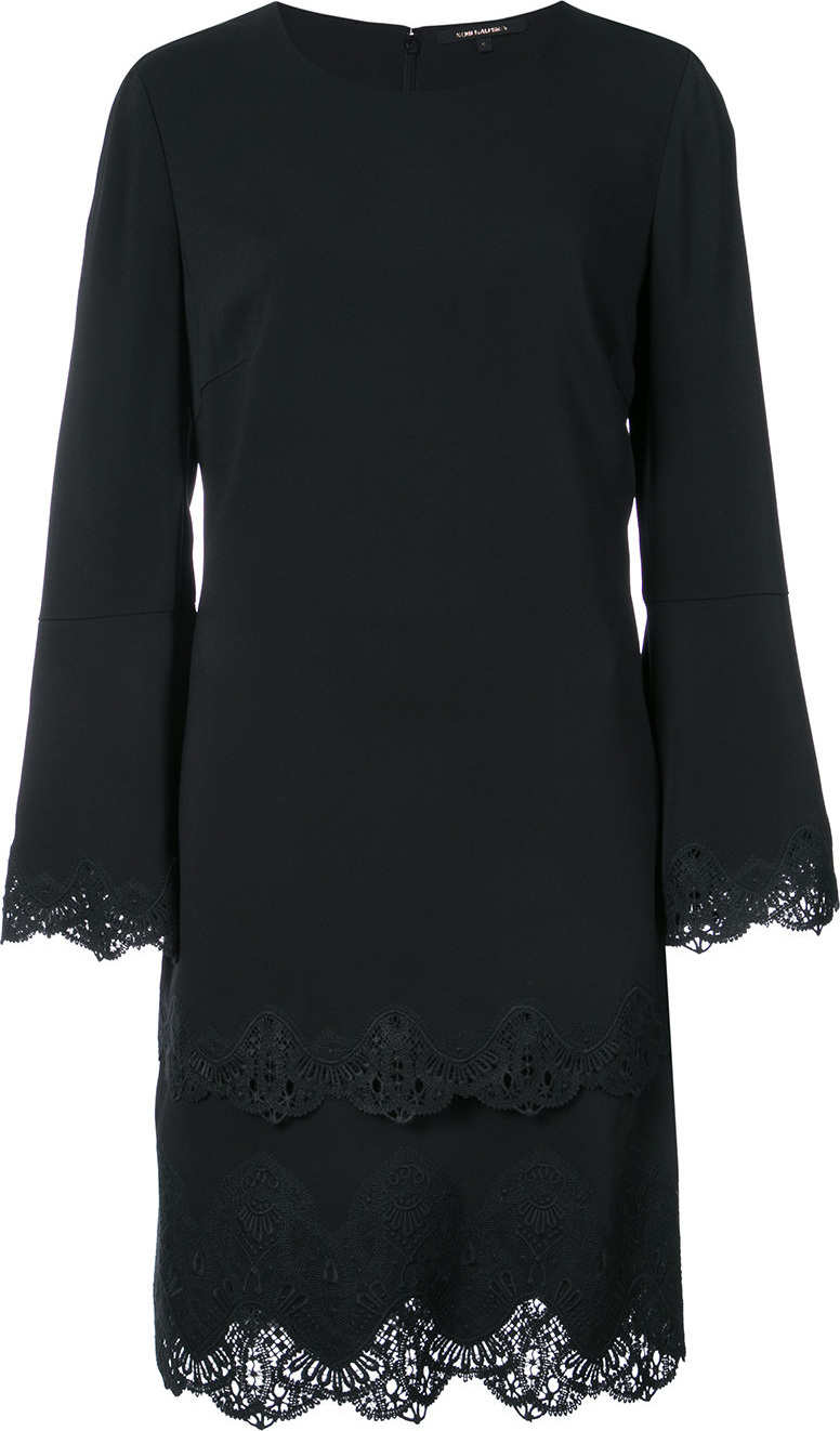 KOBI HALPERIN - Lace detail layered dress