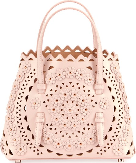 Alaïa Mina Small Vienne Flower Lux Tote Bag
