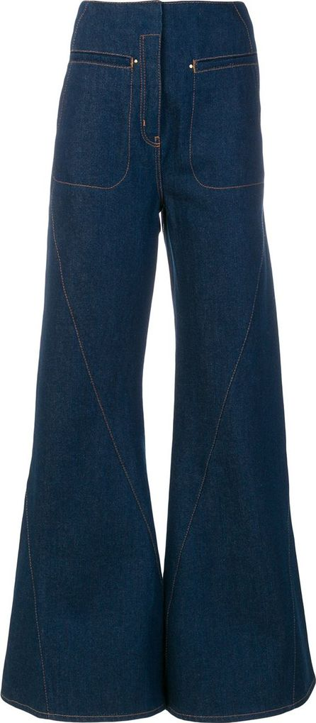 Esteban Cortazar flared high-waisted jeans