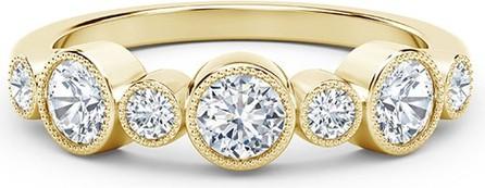 Forevermark Tribute 18k Gold 9-Dia Bezel Ring, Size 6.5