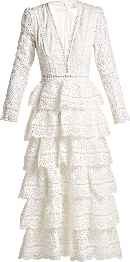 Zimmermann Bayou cotton broderie anglaise midi dress