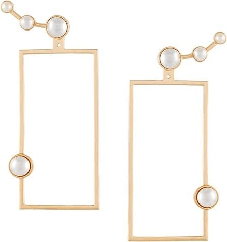 Eshvi pearl rectangular earrings