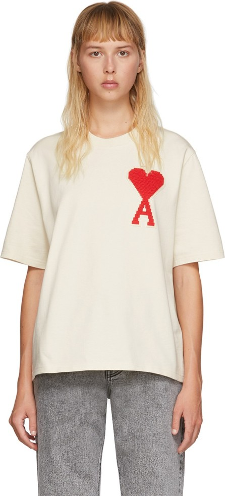 AMI Off-White Oversized Ami De Coeur T-Shirt