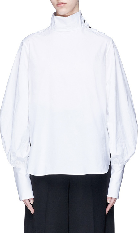 Bassike Funnel neck button shoulder shirt