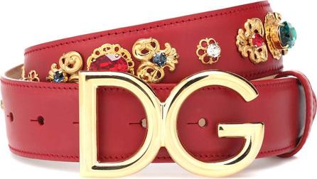 Dolce & Gabbana DG embellished leather belt