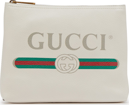 Gucci Logo-print small leather pouch
