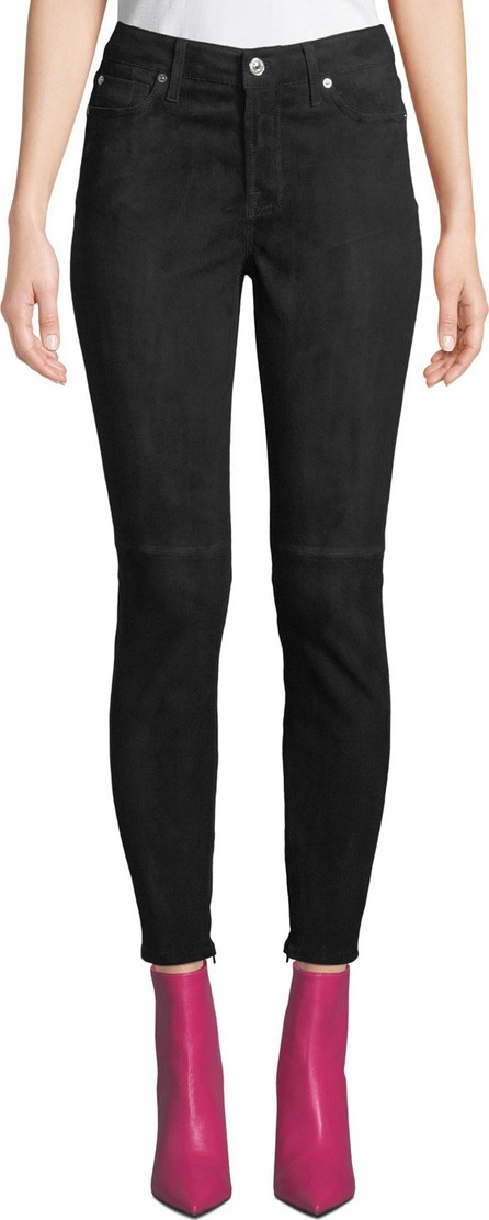 7 For All Mankind The Ankle Skinny Suede Jeans