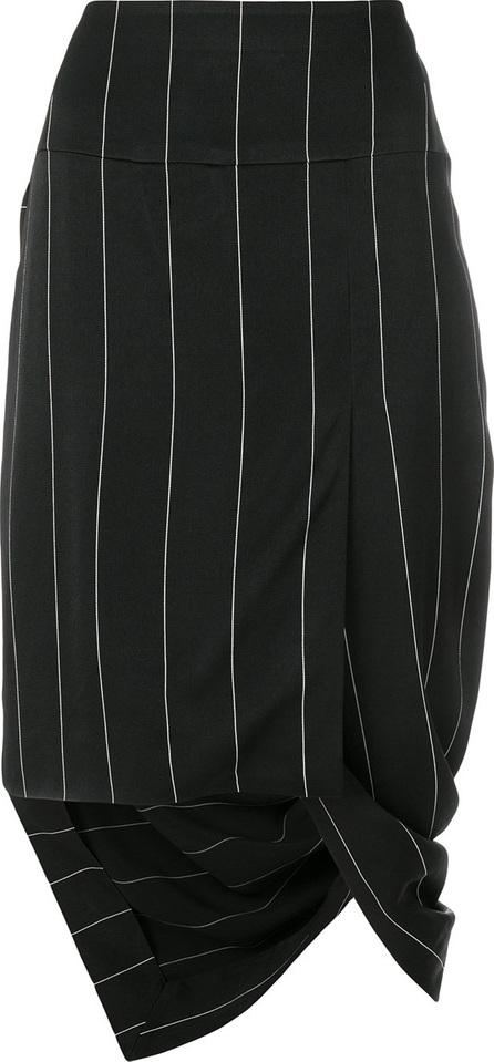 Haider Ackermann Asymmetric striped skirt