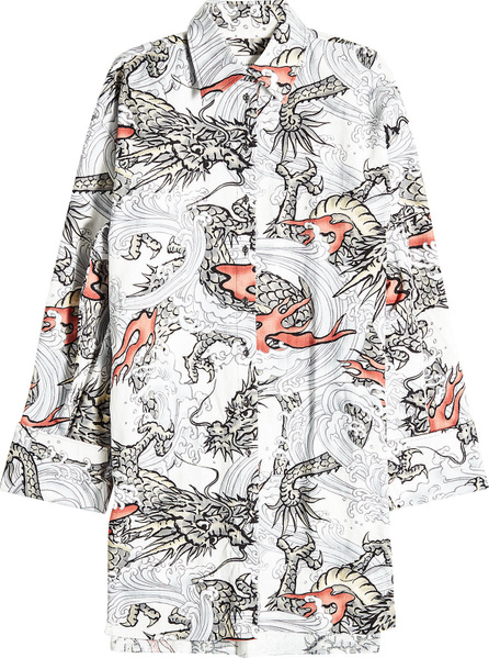 Marques'Almeida Printed Cotton Shirt Dress
