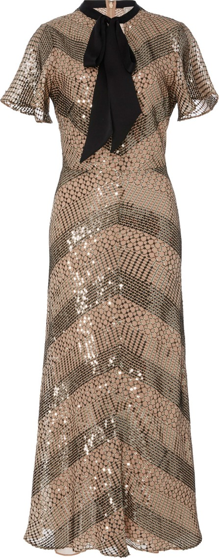9127d28b3c6c Temperley London  Riviera  ruffle graphic jacquard mini dress in ...
