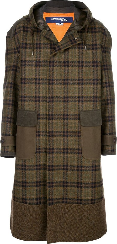 Junya Watanabe MAN Plaid hooded coat