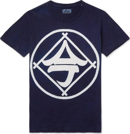 Blue Blue Japan Indigo-Dyed Printed Cotton-Jersey T-Shirt