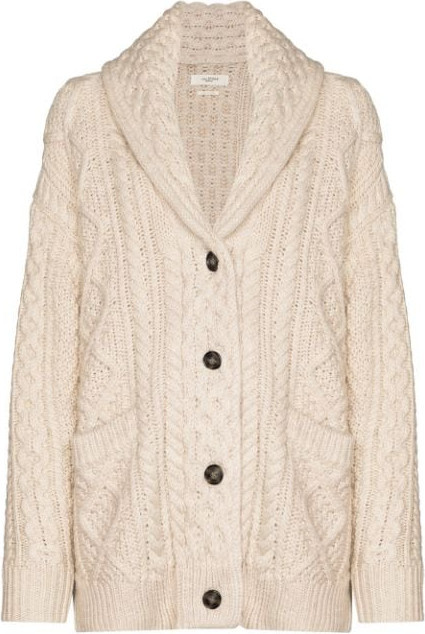 Isabel Marant Etoile Regan cable-knit cardigan