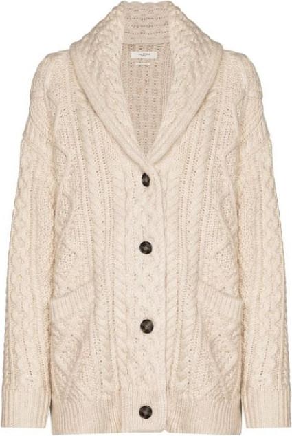 Isabel Marant Etoile Regan cable-knit cardigan