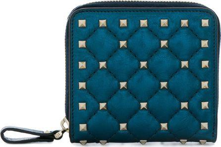 Valentino Rockstud zip-around purse