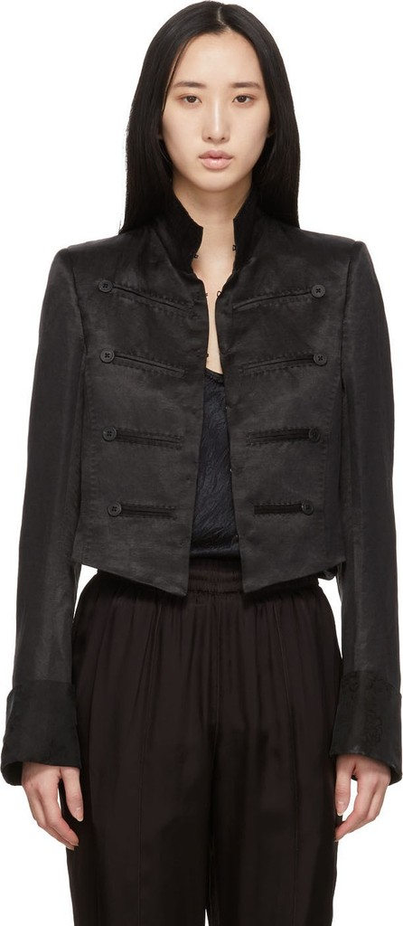 Ann Demeulemeester Black Cropped Jacket