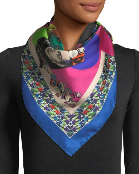 Versace Collection Vogue Collage Silk Shawl